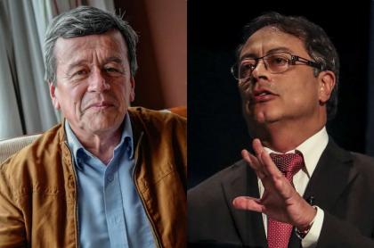 Pablo Beltrán y Gustavo Petro