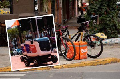 Robots de Rappi empiezan a entregar domicilios en Colombia.