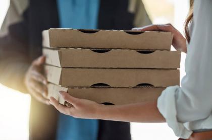 Repartidor de pizza.