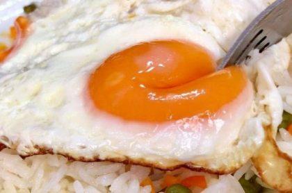 Arroz con huevo, imagen de referencia.