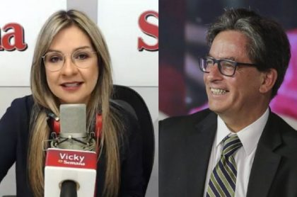 Vicky Dávila y Alberto Carrasquilla