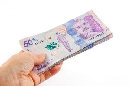 Billetes de 50 mil pesos. Imagen ilustrativa.