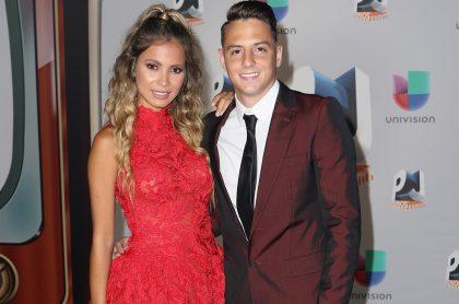 Karin Jiménez y su esposo Santiago Arias, futbolista.