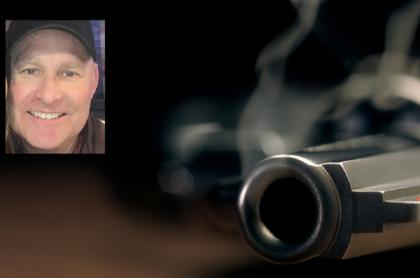 Foto del presunto pistolero Gabriel Wortman / Imagen ilustrativa de un arma