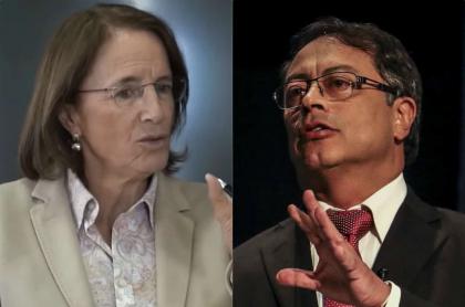 Salud Hernández y Gustavo Petro