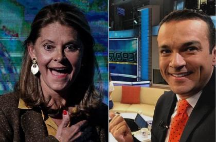 Marta Lucía Ramírez, vicepresidenta, y Juan Diego Alvira, presentador.