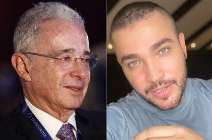 Álvaro Uribe, expresidente y senador, y Jessi Uribe, cantante.