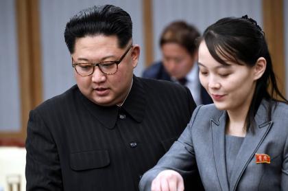 Kim Jong-un y Kim Yo-jong