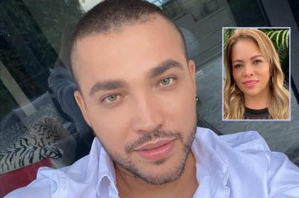 Jessi Uribe, cantante, y su exesposa, Sandra Barrios.