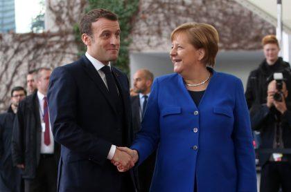 Emmanuel Macron y Angela Merkel