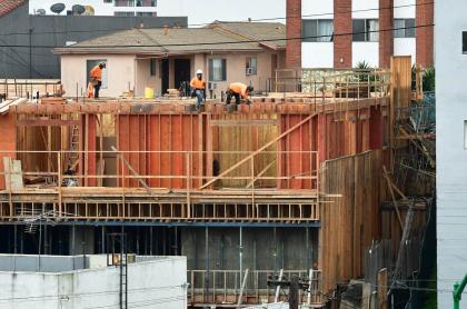 Trabajadores de construcción.