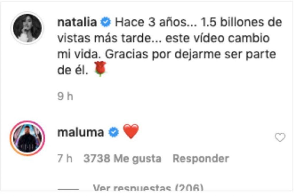 Pantallazo Instagram Natalia Barulich
