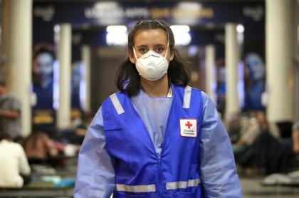 Cruz Roja colombiana, durante la pandemia de COVID-19