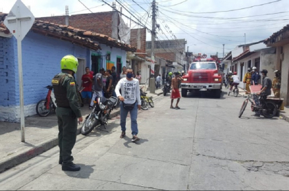 Barrio Divino Niño, donde explotó la granada