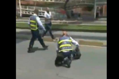 Motociclista que agredió a agente de tránsito en Cali