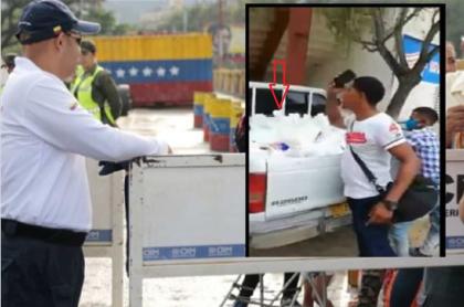 Venezolanos reclaman por mercados que les dieron