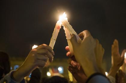 Protesta líderes sociales Bogotá