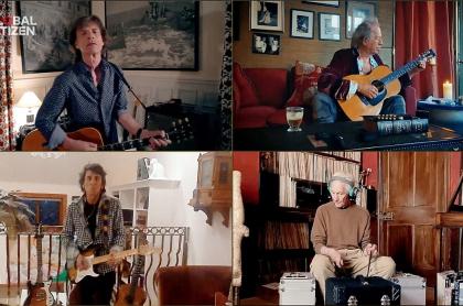 Los rolling Stones en el concierto Global Citizen por el COVID-19