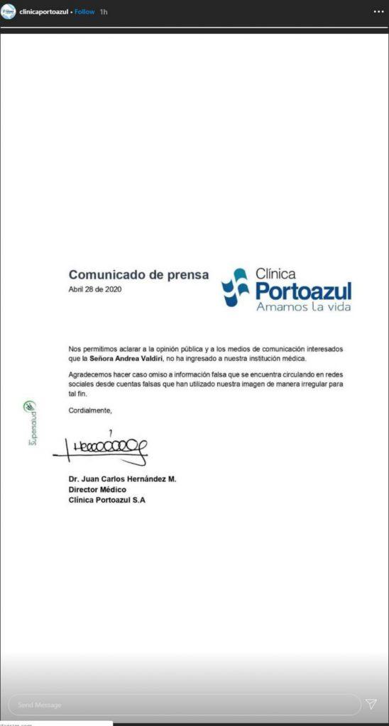 Instagram @clinicaportoazul
