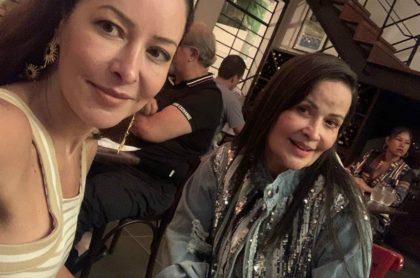 Flavia Dos Santos y su mamá