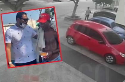 Víctima de robo buscó al que lo robó para darle comida