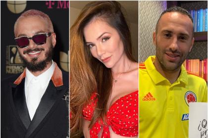 J Balvin, Lina Tejeiro y David Ospina