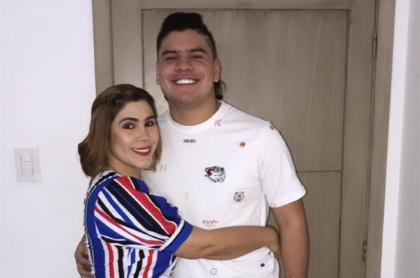 Moisés Díaz y su madre, Betsy Liliana