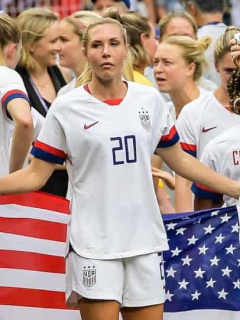 Jugadoras de la Selección femenina de fútbol de Estados Unidos, campeona mundial