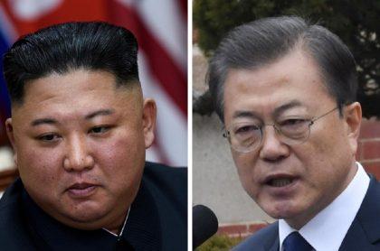 Presidente de Corea del Norte, Kim Jong-un / Presidente de Corea del Sur, Moon Jae-in