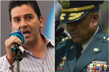 Néstor Morales y Luis Fernando Navarro, comandante de las Fuerzas Militares
