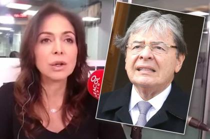 Diana Calderón y Carlos Holmes Trijillo