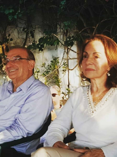 Humberto de la Calle y su esposa Rosalba