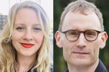 Antonia Staats y Neil Ferguson