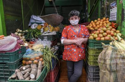 Mercado en Bogotá durante la pandemia de COVID-19