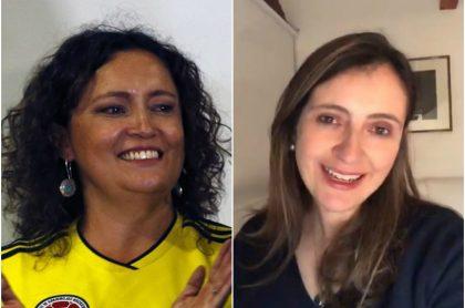 Angélica Lozano y Paloma Valencia