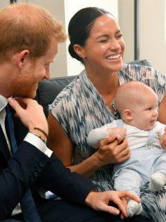 El príncipe Harry, su esposa Meghan Markle y su hijo Archie