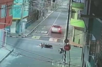 Momento del accidente en sur de Bogotá
