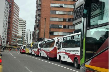 Protesta de conductores del SITP Provisional