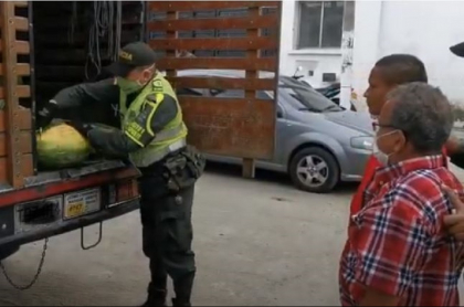 Incautan marihuana en cargamento de patillas