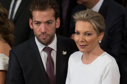 Martín Santos y su mamá, 'Tutina' de Santos, exprimera dama.