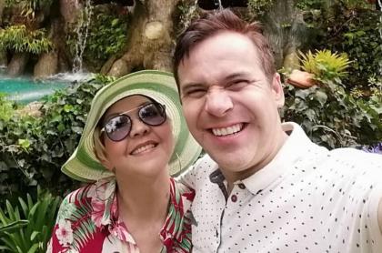 'La Gorda' Fabiola y 'Polilla', esposos y humoristas.