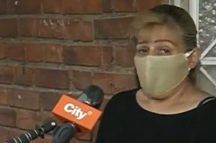 Edy Fonseca, mujer retenida en edificio de Rosales