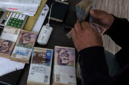 Dinero colombiano, imagen de referencia.