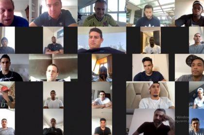 Reunión virtual de la Selección Colombia durante la pandemia de COVID-19