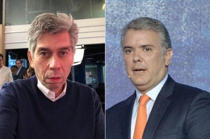 Daniel Coronell, periodista, e Iván Duque, presidente de Colombia.