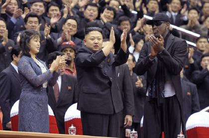Kim Jong-un y Dennis Rodman