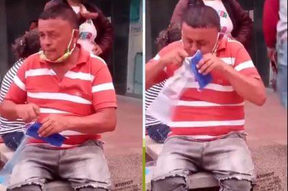 Vendedor ambulante de tapabocas