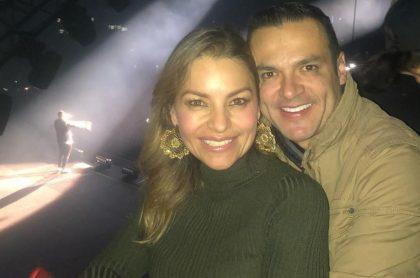 Juan Diego Alvira, presentador, con su esposa Ana María Escobar.