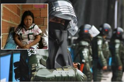 Policía responde a denuncia de indígena en Bogotá