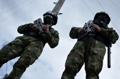 Militares colombianos, durante la pandemia de COVID-19